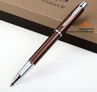Wholesale Parker Ink Pen Black - Free Shipping Parker Multi Color Roller Ball Pen Signature Ballpoint Pen Metal Silver School Office Suppliers Stationery Gel Pens of Writing