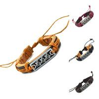 Wholesale Turtle Bracelet Men - Wholesale- 2015 Genuine Leather Sea Turtle Charm Bracelet Cuff Braided Wrap Bracelet & Bangles Fashion For Women Men Gifts