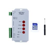 Wholesale Dmx Sd Card - T1000S DMX 512 RGB LED Controller Configurable SPI SD Card WS2812B WS2811 WS2801 WS2803 LP6803 8806 1903 1809 1812 DC5V 12V-24V