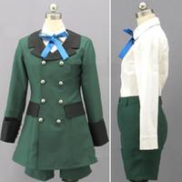 fantasias de ciel s venda por atacado-Anime preto mordomo kuroshitsuji ciel phantomhive cosplay emboitement green party wear set conjunto de roupas de halloween