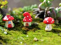 Wholesale Mushroom Seeds - Moss micro-landscape ecological bottle cartoon mushroom room three mushroom seeds dIY landscape tree resin small ornaments