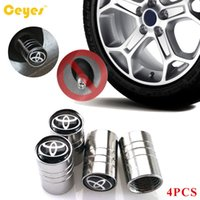Wholesale Car Toyota Camry - Car Wheel Tire Valves Tyre Stem Air Caps Cover For Toyota corolla avensis c-hr raw4 auris camry yaris Car Emblems Tire Accessories