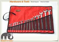 Wholesale Open Spanner - Industrial 16pc 8-32mm Combination Spanner Ring Open End Wrench Set