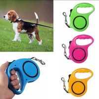 Wholesale Dog Flexible - Retractable Dog Leash Flexible Dog Leashes 3M 5M Traction Rope Extending Puppy Pet Walking Leads Leash OOA2292