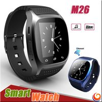 Wholesale M26 smartwatch Wirelss Bluetooth Smart Watch Phone Bracelet Camera Remote Control Anti lost alarm V8 A1 U8 watch for IOS Android