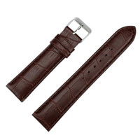 модные кожаные ремешки оптовых-Wholesale- 2016 Resuli Hotsale High Quality 20mm Fashion Man Women Leather Strap Watchband Watch Band Freeshipping