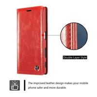 billetera compacta sony z3 al por mayor-Funda con tapa CaseMe Wallet para Sony Xperia Z3 Z4 Z5Plus XZ2 Compacto XZ3 Soporte de imán único Cubierta de cuero billetera