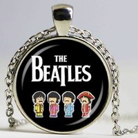 ingrosso gioielli della band musicale-Hot Glass Dome Jewelry 1PCSLOT The Beatles Collana Music Pendant Band Gioielli Sliverbronze