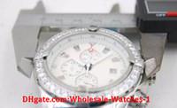 Wholesale 48mm Quartz - Wholesale - Special Edition Chronometre Quartz Men's Wristwatch Three Zone 48mm Full Stainless Steel Belt Black Face Male Moon Watch Relojoe