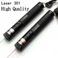 Wholesale Laser Sight Batteries - laser 301 green laser pointers Red lazer point dot sight laser burn match pop balloon+Key+Battery+Changer