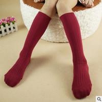 Wholesale Girls Legging Stripes - Children stocking 2017 new boys girls stripe Candy color Socks children cotton stockings Kids Socks legs kids sweet princess stocking T1725