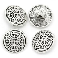 Wholesale Sewing Buttons 17mm - Kimter Ancient Silver Engraved Round Sewing Buttons With Shank 17mm For Craft Garment Accessorie Scrapbooking Pack Of 30pcs I717L