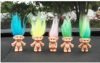 brinquedo de menino menina anime venda por atacado-100 pcs troll cabelo membros da família papai múmia bebê meninos meninas represa anime trolls kids toys para presente de aniversário para crianças