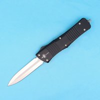 Microtech blade micro - Speical Offer High End Micro Troodon Auto Tactical Knife D2 Satin Spear Point Blade EDC Pocket Knife Xmas Gift