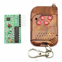 Wholesale Wireless Remote Control Receiver Kit - Wholesale-IC 2262 2272 315Mhz 4-Channel Four-Way 4 Key Wireless Remote Control Receiver Module DIY Kit M4 Non-lock Receiver Plate