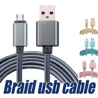 Wholesale Nylon Cables - Metal Nylon Braid Micro USB Cable USB Cable Alloy Data Charging cable 1M 3FT 2M 6FT 3M 10FT for android devices