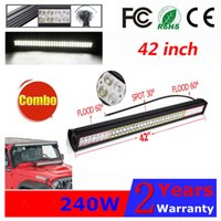 240W 42Inch LED Arbeitslicht Bar Spot Flood Combo Beam Offroad Arbeitslicht Fahrlampe SUV UTE ATV LKW Jeep Boot 4WD IP67 12V 24V 42
