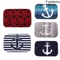 Wholesale High Quality Fashion Anchor Pattern Carpet Memory Foam Mats Slip resistant Bath Mat Home Decor