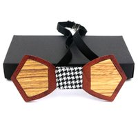 Wholesale Leisure Wear For Men - 2017 Novelty Designer Mens woodenBow ties Solid Formal wear business party Brand wood Bowties for Men corbatas WBT22