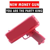 Wholesale Fantasy Money - 2017 August The cash cannon Money gun party king party toy led flashlight AA batteries build for seller logo sticker