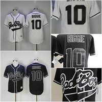 Wholesale Small Cool Boys - 2017 Men's MLB Authentic jersey Bad Boy #10 Biggie Smalls White Black Cool Baseball jerseys Stitched Free shipping