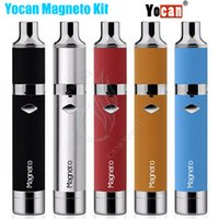 Wholesale crystal building - Yocan Magneto Kit Wax Vaporizer 1100mAh Battery Magnetic Coil Cap Built-in Silicone Jar Ceramic Crystal Coils Herbal Vapor Pen Magneto Vape