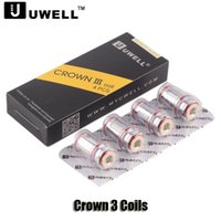 Wholesale head crowns - Authentic Uwell Crown III Coils 0.25 0.4 0.5ohm Replacement SUS316 Parallel Coil Head For Uwell Crown 3 Atomizer
