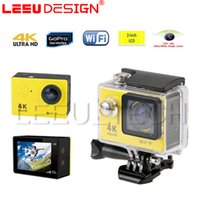 H9 Ultra HD 4K WIFI Action Camera 1080P / 60fps Diving 30M Caméra sportive étanche 170 Lens 2.0 Casque LCD Cam Video HDMI Out