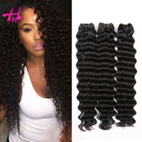 Wholesale Hair Fusion Sale - 3 Pcs Malaysian Water Deep Wave Hair Weave Natural Color Fusion Hair Extension Hairme Virgin human Hair Weft For Sale Free Shipping
