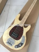 Wholesale High quality music string electric bass wood color EMS Custom signature
