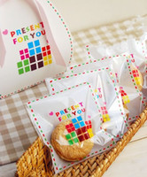 Wholesale Packing Bag Free Present - Free shipping present for you colorful self adhesive bag DIY gift packing bags cookie candy gift bag favors