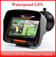 """Wholesale Waterproof Motorcycle Gps - GPS navigator waterproof 8GB 4.3"""" Motorcycle Car GPS Navigator Touch Screen Waterproof Shockproof Sunproof ATP020"""