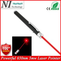 Wholesale Military Laser Beam Pointer - 5MW 650nm Red Laser Pen Black Strong Visible Light Beam Laserpointer Powerful Military Laster Pointer Pen