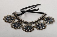Wholesale Exaggerated Jewellery - New Arrival Fashion Charm Jewellery Exaggerated Lady Unique Noble Crystal Bead Collar Handmade Peter Pan Fake Choker Necklace