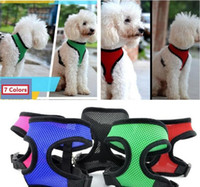Brand new Summer Pet dog Nylon Mesh Harness Strap Vest Collar Small Medium Large XL Taille Dog Puppy Comfort Harness 7 couleurs