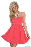 Wholesale Sexy Spandex Mini Skirt - dresses fashion hot new Mini bubble dress strapless Shoulder strap sexy Short skirt pink navy blue black apricot M L