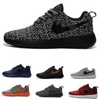 Wholesale Original boost Run Running Shoes Mens and Womens roche run black and white rushe one rose RunIngs runing shoes size