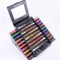 Wholesale Multi Colored Eyeshadow - Miss Rose Eyeshadow Makeup Palette 130 Full Color Eye Shadow Professional Multi-Colored Waterproof Beauty Eyeshadow with brushes