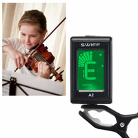 Wholesale chromatic acoustic guitar tuner resale online - Mini Clip on LCD Display Guitar3V A2 Tuner for Acoustic Electric Chromatic Guitar Bass Violin Ukulele