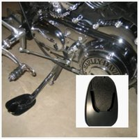 Wholesale MOTORCYCLE KICKSTAND PLATE BIKER KICK STAND PAD NEW BLACK MADE IN