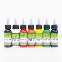 Wholesale tattoo bottle supply - 7pcs Tattoo Ink 30ml bottle High Quality Tattoo Pigment for Tattoo Machine Kit Supply Ink 417
