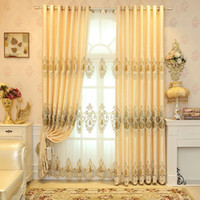 curtain grommet hotel hot sale modern curtain living room window treatments embroidery blackout drapes bedroom