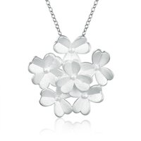 Wholesale Three Leaves Clover - Hot Sale Women Silver Plated Drop Pendant Chain Necklace Clover Three Leaves Lucky Necklace Fashion Accessories Vintage Jewelry New Design