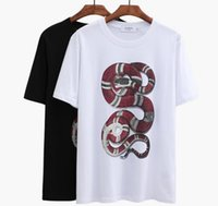Wholesale Multicolor Mens Shirt - Early Spring Snake polo shirt Multicolor Short Sleeve embroidery polo brand High quality Fashion mens Italy poloshirt t shirt