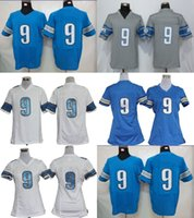 Wholesale Toddler Sale Jerseys - Factory Outlet Mens Womens Kids Toddlers DET 9 Matthew Stafford Blue Grey White Game Elite Best Quality Stitched Hot Sale Football Jerseys