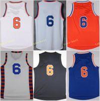 Wholesale Orange Team Names - Top Sale 6 Kristaps Porzingis Uniforms Rev 30 New Material Jersey Shirt Team Color Blue White Orange Black Stitched With Player Name