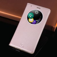 Wholesale Circle Plastic Shell - Smart Circle Window View Flip Cover Quick Shell Magnet Housing Auto Sleep Wake Up Cell Phone Case For LG G3, G4, G3 Mini