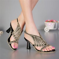 G-SPARROW Women's Summer 2017 Summer Women's Black High Heeled Scarpe di lusso Scarpe di diamanti di moda di nozze Peep Toe Sandals DW7