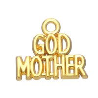 Wholesale New Arrival Vintage Fashion Necklace - New Arrival Fashion Metal Vintage Silver GOD MOTHER Message Charms For Necklace & Pendants Making