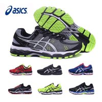 Wholesale Gray Men Shoes - 2017 Original New Asics Gel-Kayano 22 Wholesale Running Shoes Men Black Gray Green Blue Basketball Shoes Boots Sport Sneakers Size 40.5-45